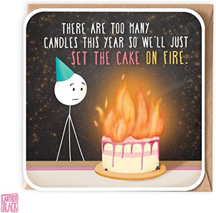 Prime Too Many Candles Funny Birthday Card Set The Cake On Fire 40Th Funny Birthday Cards Online Fluifree Goldxyz