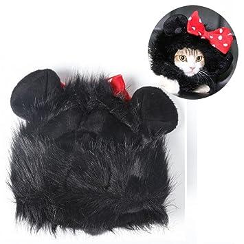 gossipboy mascota lindo peluca Funny Cat Kitty ropa perrito de gato Halloween sombrero disfraz de cachorro de mascotas Keep Warm Cap con orejas, ...
