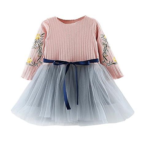 feiXIANG Vestido de niña Vestido de niña recién Nacida Ropa de niña Bebé Vestido de Princesa