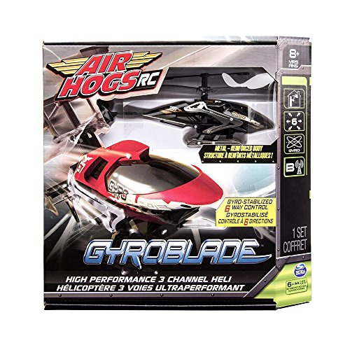 (Air Hogs Radio Control Gyro Blade Set - Black with Gold/White GyroBlade)