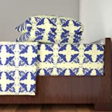 Roostery Bird 4pc Sheet Set Mexican Tiles Birds by Spacefem Queen Sheet Set made with