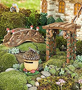Hearthsong decorative fairy village - Garden decor accessories ...