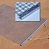 Baseball Infield Drag Mat with 6ft x 6ft Galvanized Steel Mesh