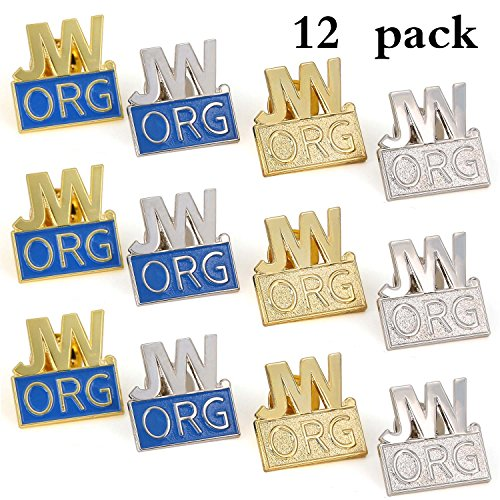 Witness Pins (12 Pack JW.org Pin Made By Solid Metal Toned Into Gold Or Silver Great Jw.org Presents For Jehovah's Witnesses)