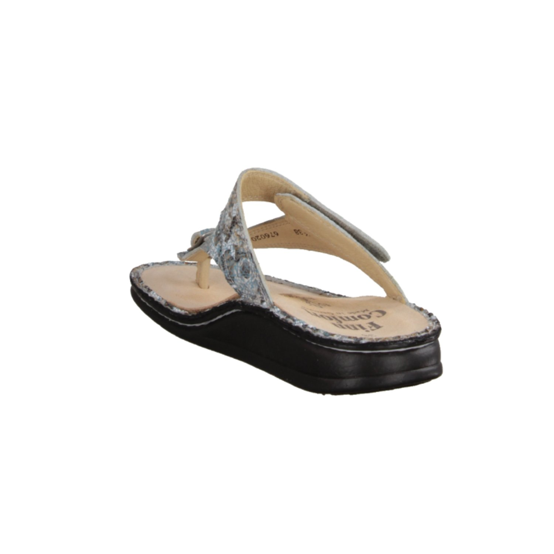 Finn Comfort Alexandria Soft - Damenschuhe Pantolette / Zehentrenner, Weiß, leder (knautschlack)