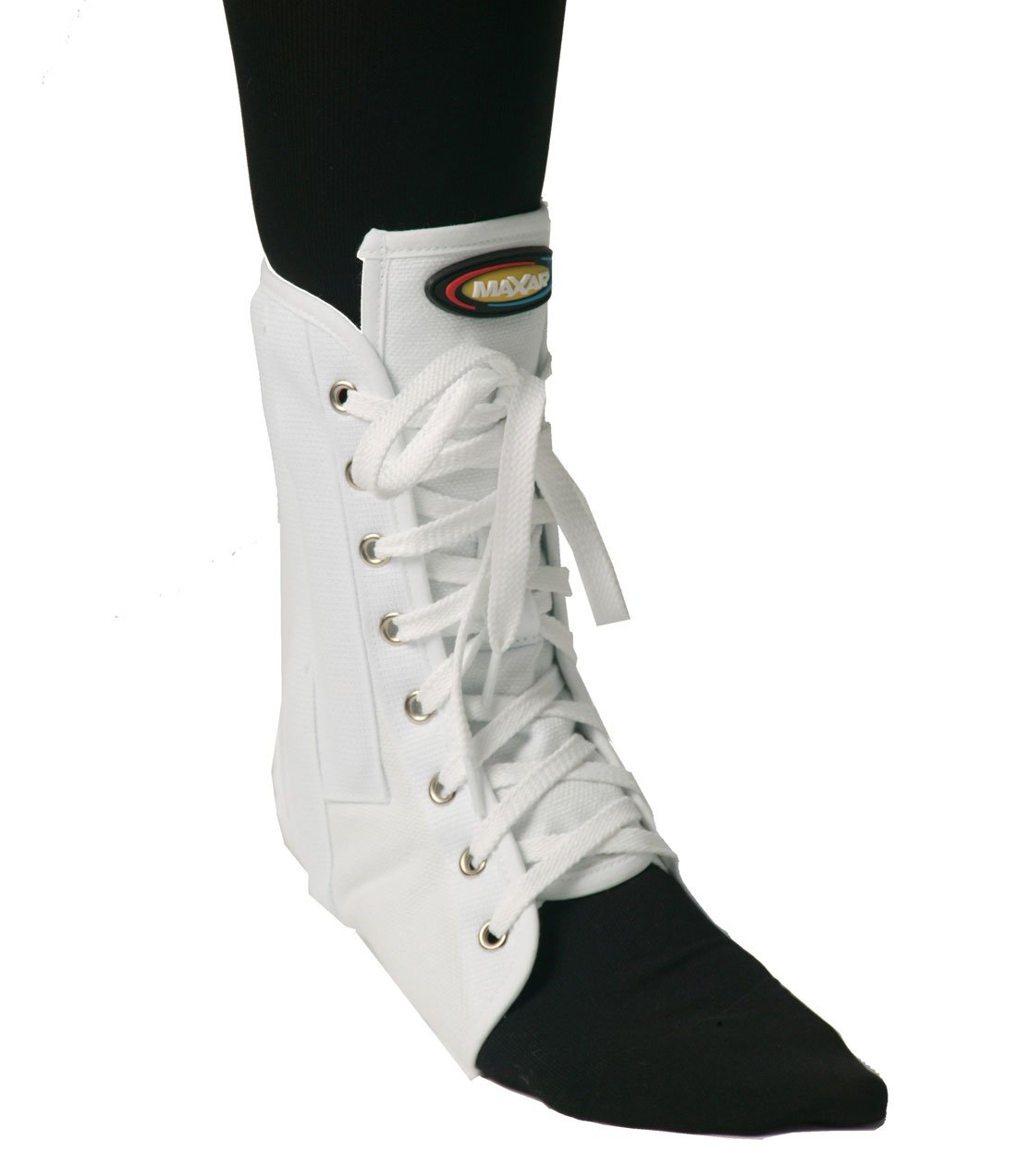 Maxar Canvas Ankle Brace (with Laces), Small, White