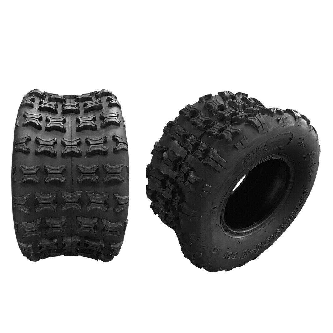 2Pcs 18x9.5-8 ATV UTV Tires Rear Left And Right Tubeless Sport Tires 4 Ply P316 18-9.5 8 18/9.5/8 Load Range B ATV UTV Tires by TRIBLE SIX