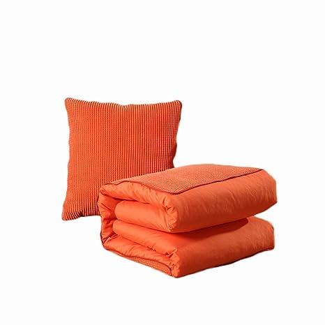 Colchón de Color sólido Almohada edredón de Uso Dual ...