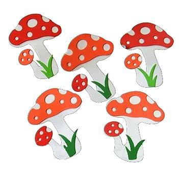 Amazon.com : Set of 4 Mushroom Pattern Classroom Wall Decorate ...