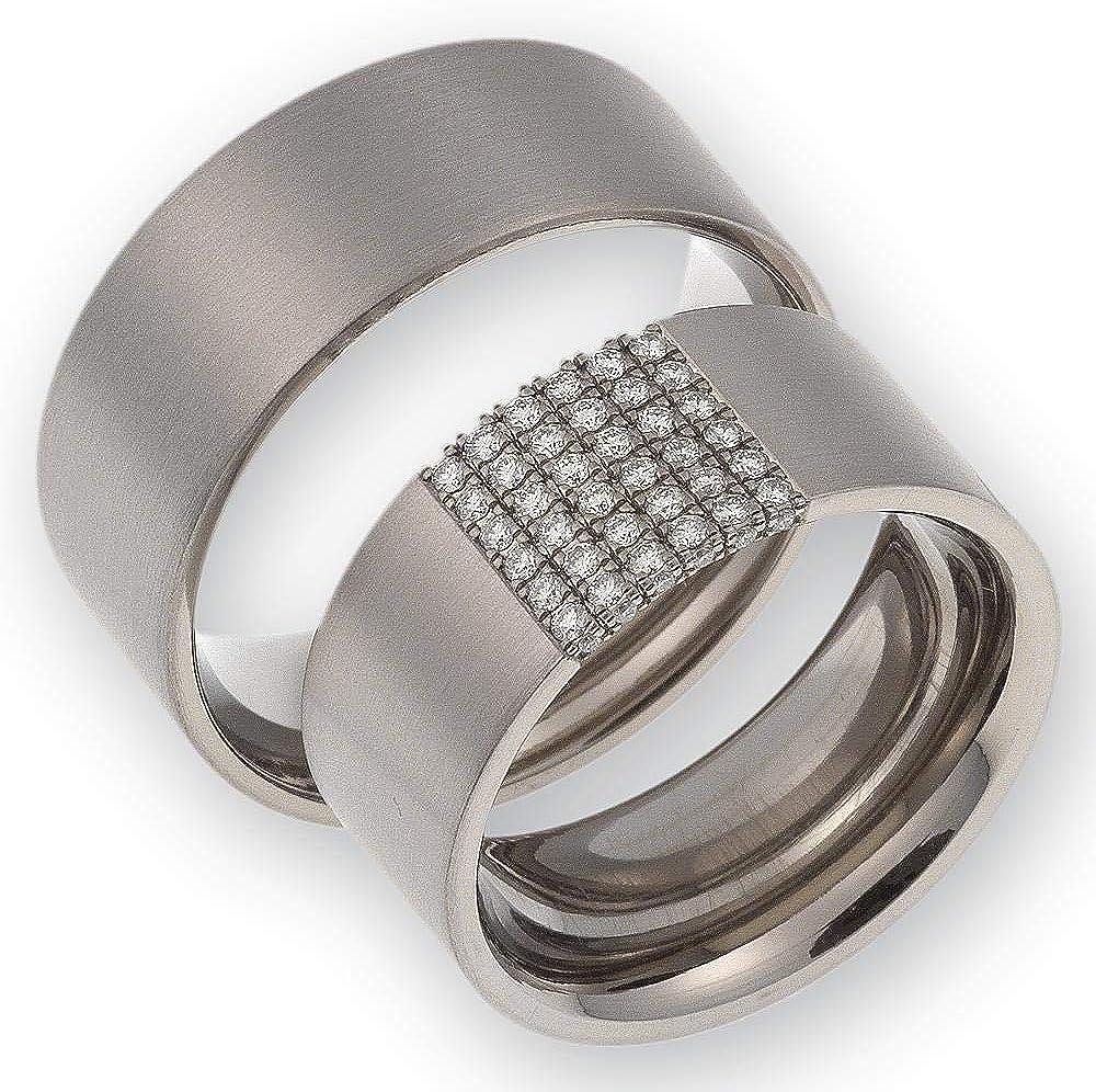 Eheringe aus Titan mit echten Diamanten GRATSI Testringservice /& Gravur ST100.03 CORE Titanium Diamond Collection CORE by Schumann Design Trauringe
