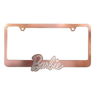 Pilot Automotive WL-BAR1 Barbie 60th Anniversary Car License Plate Frame Rose Gold Chromed ABS Plastic: Automotive