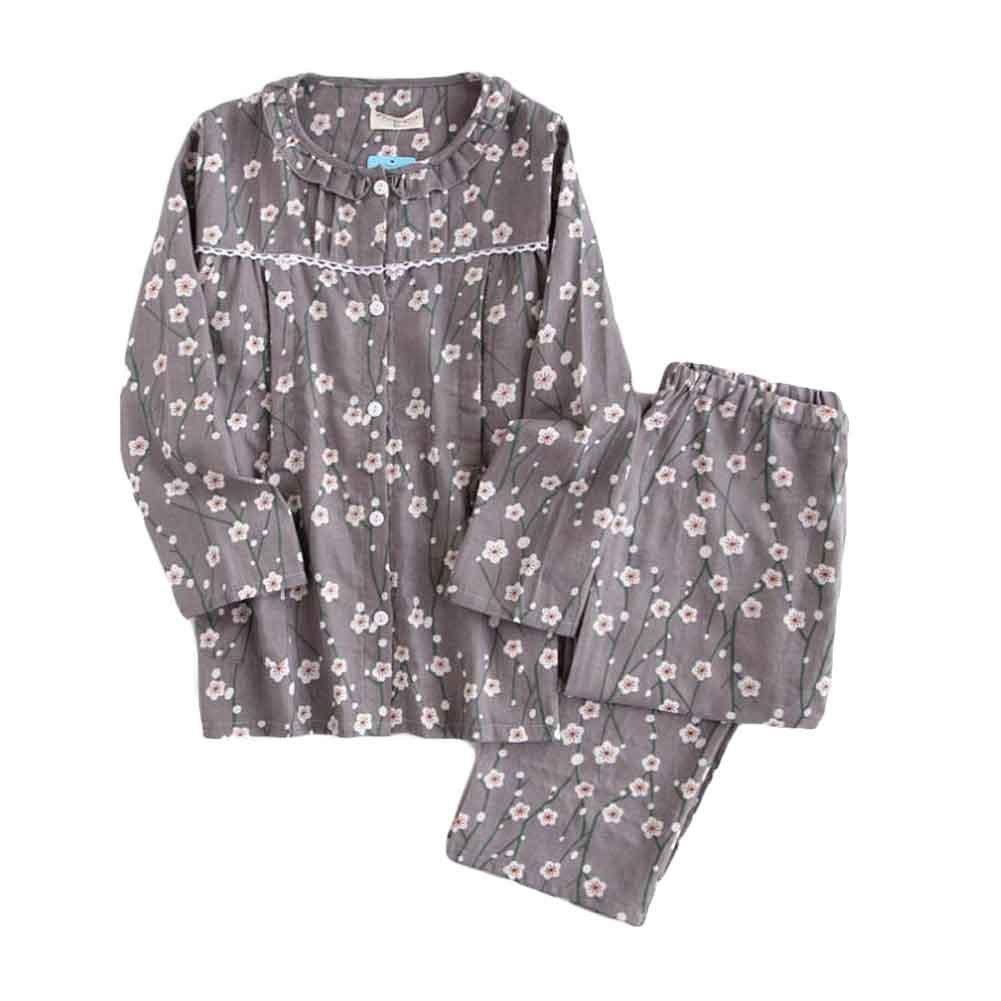 [Plum Blossom] Cotton Maternity Pajamas Set Nightwear Breastfeeding Pajamas Panda Superstore PS-CLO2379268011-DORIS02030