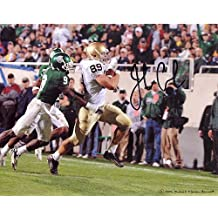 John Carlson Running Down Field vs. Michigan State Autographed 8x10 Photograph - Certified Authentic Autograph