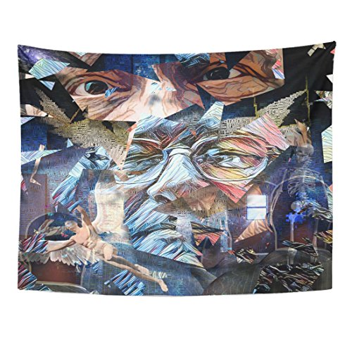 Breezat Tapestry Abstract Painting Men's Faces Naked Man wit