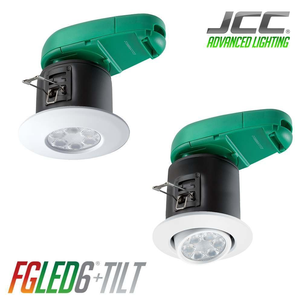 JCC FGLED6 Fireguard Mains IP65 6W LED Downlight 3000K Warm White ...