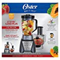 Oster Pro 1200 Kitchen Center with Professional Tritan Jar Blender and Food Processor, Metallic Grey