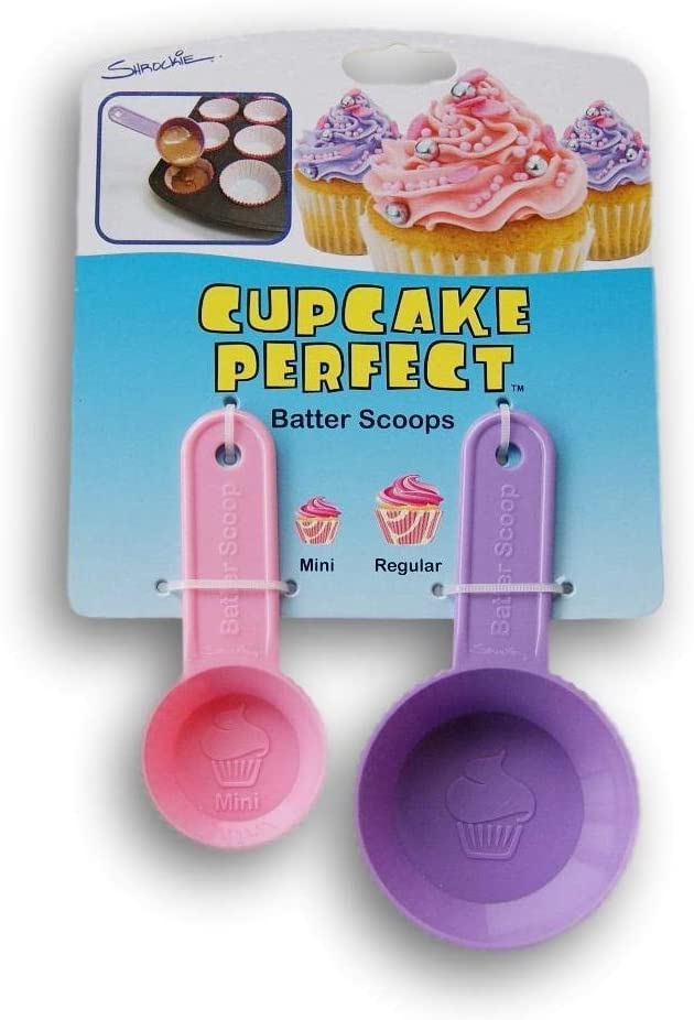 Measure Out the Perfect Amount of Batter! Cupcake Perfect Mini /& Regular Sized Batter Scoops