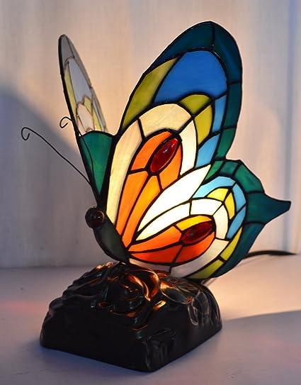 Color Cristal Animales Pequeños lámpara de mesa Tiffany lámpara de ...