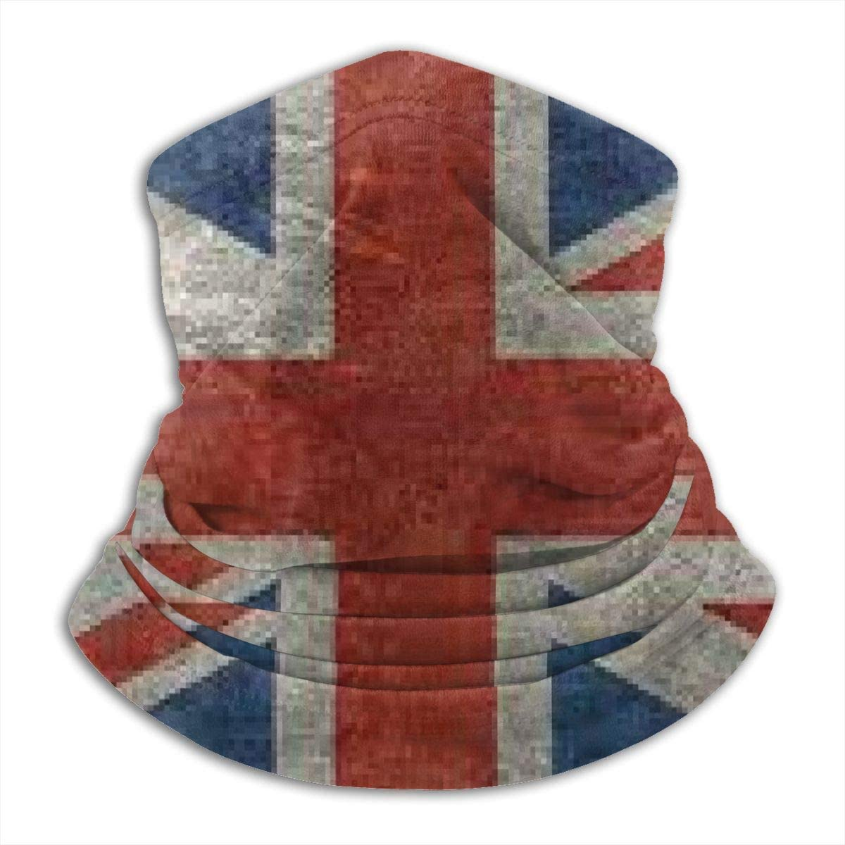 congminbai Union Jack Flag Unisex Winter Fleece Neck Warmer Gaiters Hairband Cold Weather Tube Face Mask Thermal Neck Scarf Outdoor Uv Protection Party Cover Windproof