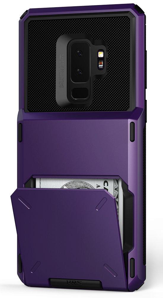 Galaxy S9 Plus Case :: VRS :: Full Body Protective Armor :: Hybrid Card Slot Holder :: ID Credit Card Travel Wallet for Samsung Galaxy S9 Plus (Damda Folder - Ultra Violet)
