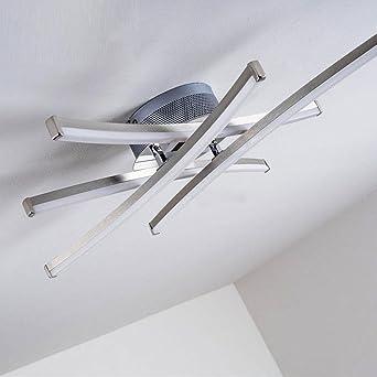 LED Lámpara de techo Moderno LED Luces cuadradas Acero ...