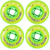 Revision Wheels Inline Roller Hockey Clinger Green 76mm 74A 4-Pack
