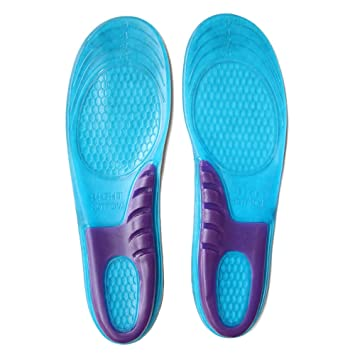 new product 608e4 c6b83 Sports Gel Insoles Cuttable Insoles Inserts Full Length Shoe Insoles for  Shock Absorption, Heel Protection