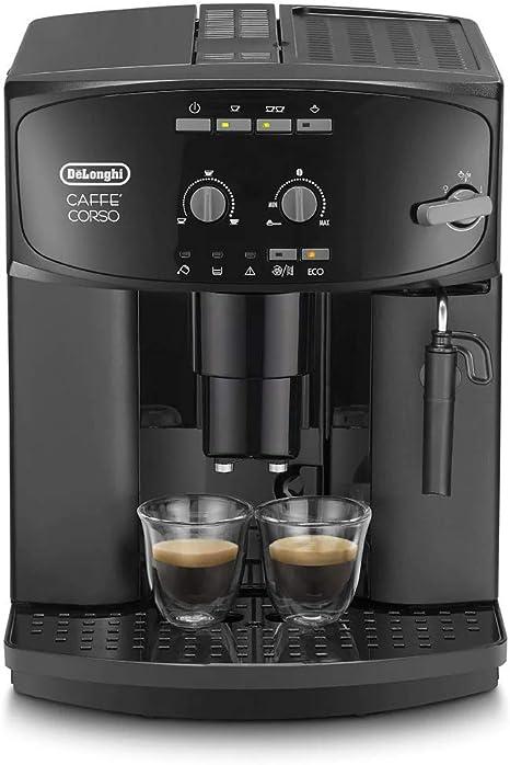 Delonghi Caffe Corso Esam 2600 Cafetera Compacta, 1450 W, 1.8 Litros, Acero Inoxidable, Negro: Amazon.es: Hogar