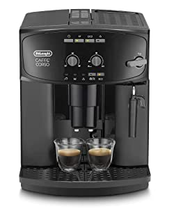 Delonghi super-automatic espresso coffee machine with an adjustable grinder, milk frother, maker for brewing espresso, cappuccino. ESAM2600 Caffe Corso