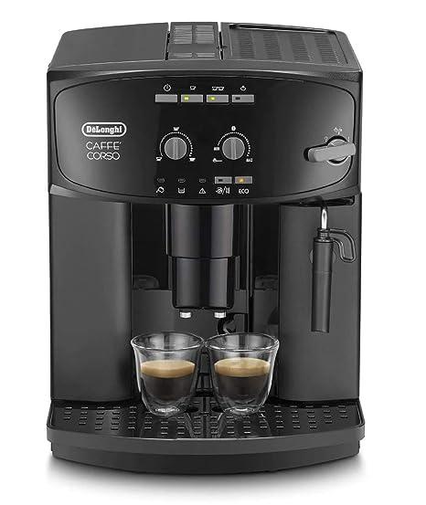Delonghi Caffe Corso Esam 2600 Cafetera Compacta, 1450 W, 1.8 Litros, Acero Inoxidable, Negro