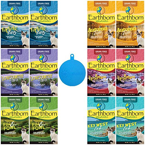 Earthborn Holistic Grain Free Cat Food in Gravy in 6 Flavors