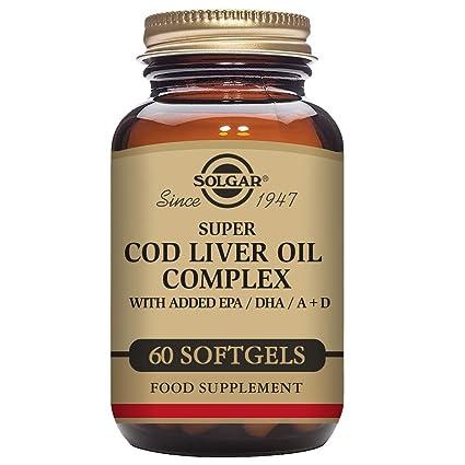 Solgar Super Cod Liver Oil Complex Cápsulas blandas - Envase de 60