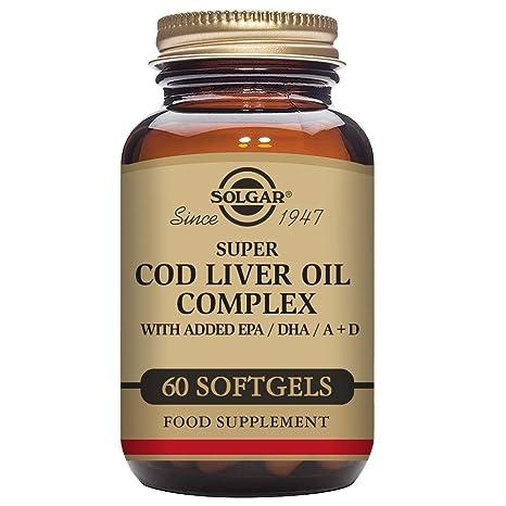 Solgar Super Cod Liver Oil Complex Cápsulas blandas - Envase ...