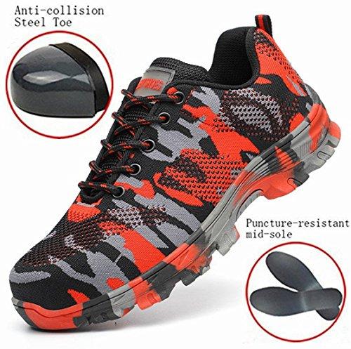 GUDUN Breathable Steel Toe Shoes for Men Steel Toe Sneakers Steel Toe Boots for Men (9-15 to delivery) (US Men 9, GD01) by GUDUN (Image #6)