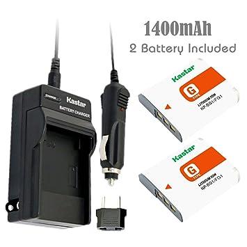 Kastar NP-BG1 batería (2-Pack) y Kit de Cargador para Sony NP-FG1 ...