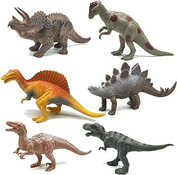 Juguetes de Figuras de Dinosaurios 6 Piezas Juego de Juguetes de ...
