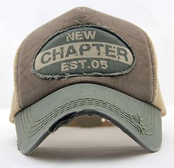 ee3353bfae779 Home Prefer Mens Vintage Mesh Trucker Hat Outdoor Adjustable Snapback  Baseball Cap Sun Protection Cap Army Green at Amazon Men s Clothing store