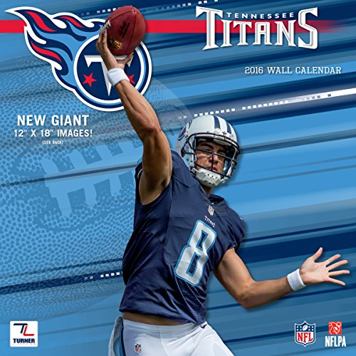 "Turner Tennessee Titans 2016 Team Wall Calendar, September 2015 - December 2016, 12 x 12"" (8011929)"