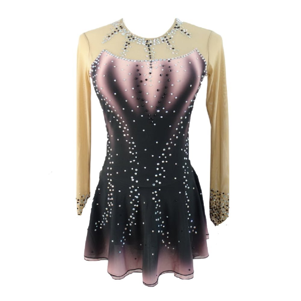 LIUHUO Black Gradient Ice Figure Skating Dress
