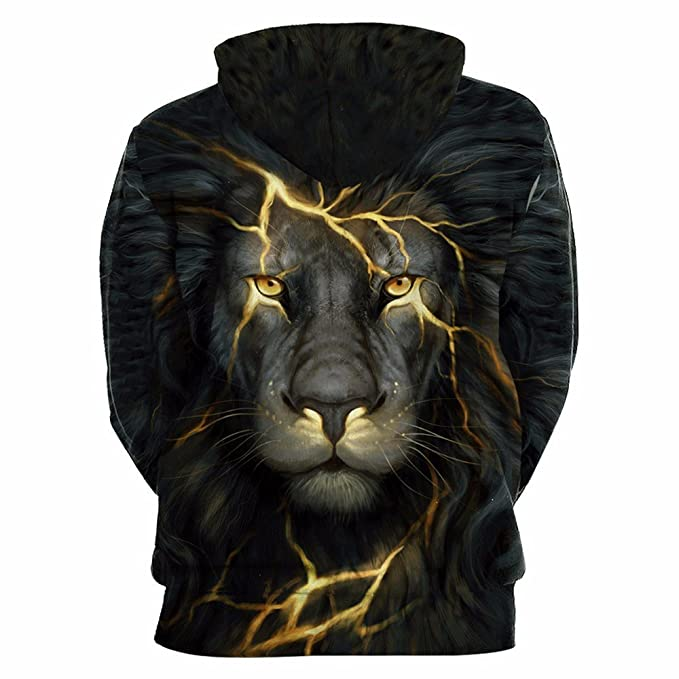 76e22183e3811 WHLWY Gros Sweat Capuche Lion 3D Animal pour Couples Robe Lâche Capuche  Sweats À Capuche  Amazon.fr  Sports et Loisirs