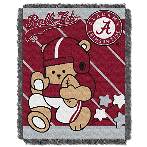 Alabama OFFICIAL Collegiate, Fullback Baby 36 x 46 Triple Woven Jacquard Throw