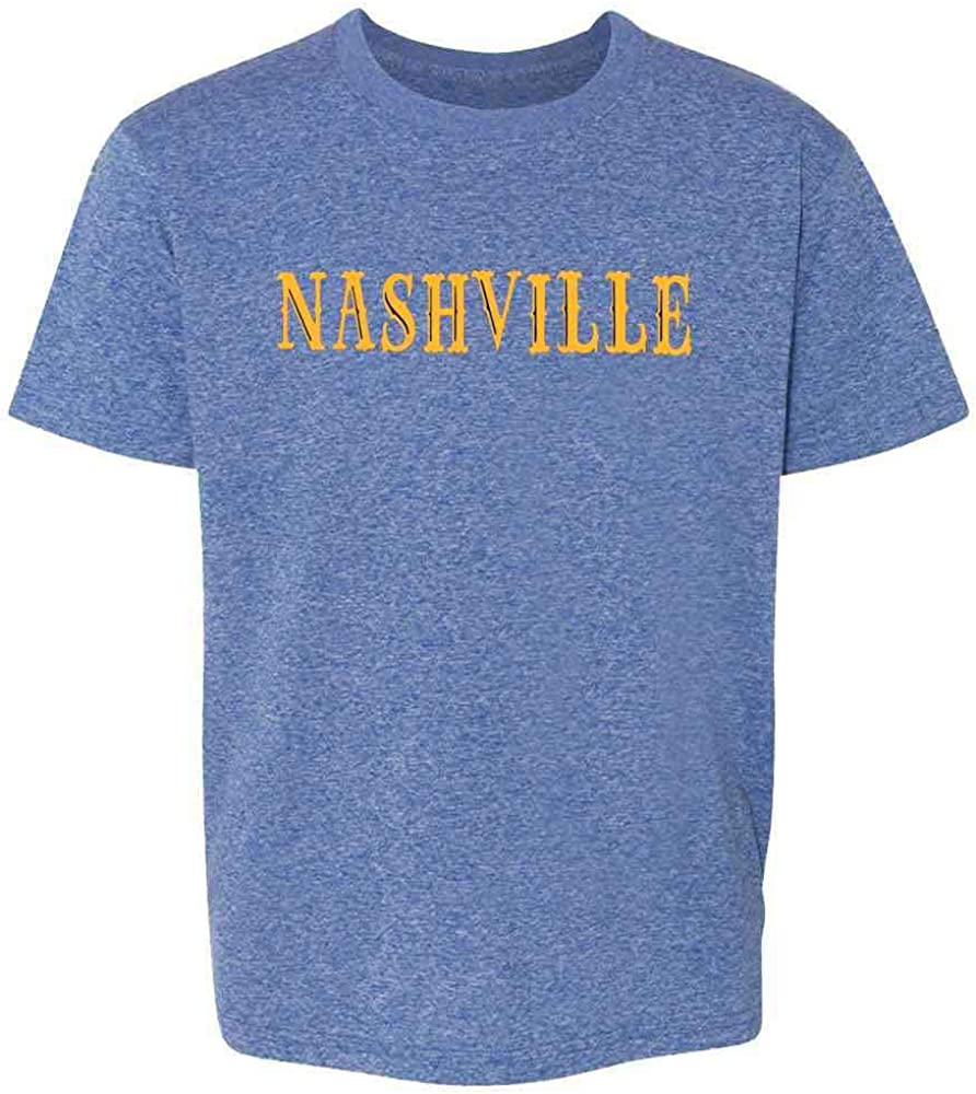 inktastic Nashville in Light Blue Text Toddler Long Sleeve T-Shirt