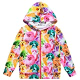 Jxstar Girl Coat Jacket Animal Hoodie Long Sleeve Cat Dog Print Full Zip