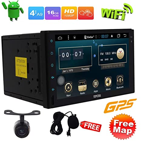 Car Stereo 7 Pulgadas Radio Audio. Android 6.0 GPS del Coche de la Unidad Principal
