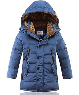 1e7674a0e DNggAND Big Boys' Winter Hooded Down Coat Puffer Jacket Mid Long Parka Coats ,5