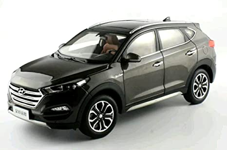 1: 18 Hyundai Tucson 2016 modelo Diecast coche aleación de (marrón) juguete coche