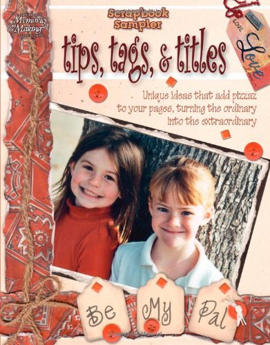 Scrapbook Title Tag - Scrapbook Sampler: Tips, Tags, And Titles (Leisure Arts #3810)