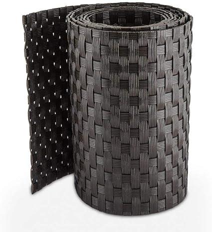 Rollo de paneles de ocultación de ratán 255 x 19 cm para dobles cercas metálicas, RD03 - Anthrazit: Amazon.es: Jardín