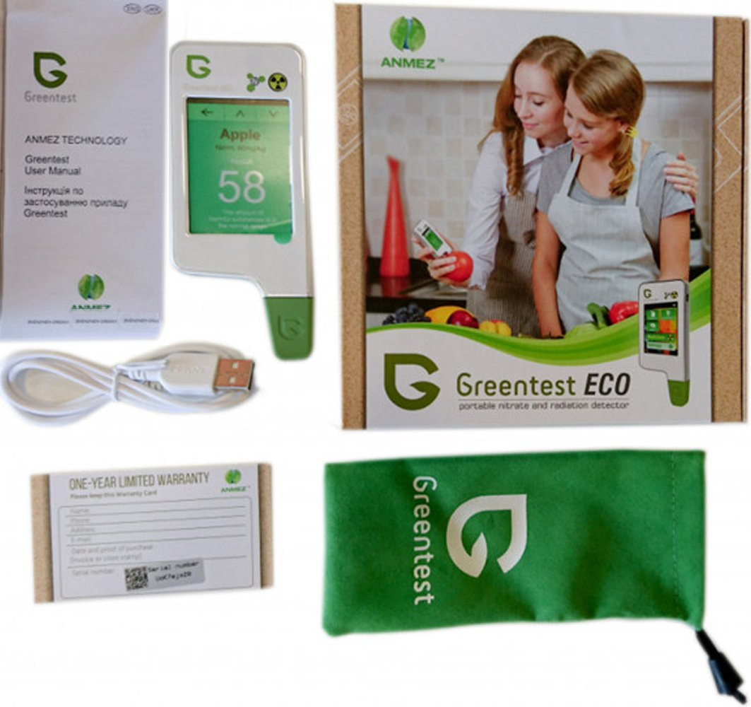 GREENTEST ECO5 All-in-One alimentos Nitrato Checker (carne, frutas & verduras) + detector de radiación medidor de agua + TDS: Amazon.es: Industria, ...