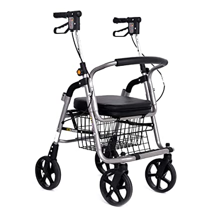 Mjb Carrito de Compras Trolley Coche Andador Anciano Scooter Carrito de Compras Carro de Ruedas Silla